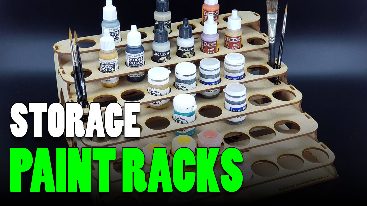 Miniature Paint Rack