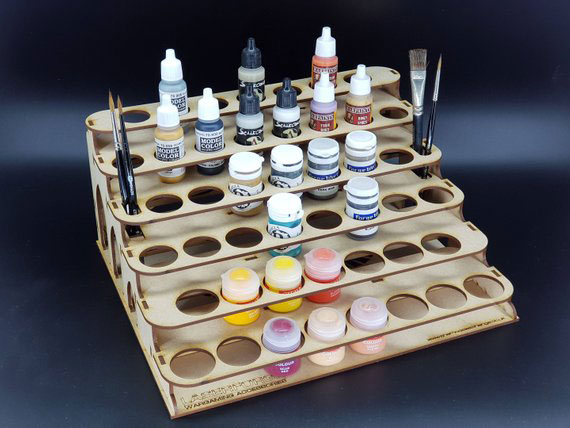 WarpedMindGames shelf style miniature paint rack