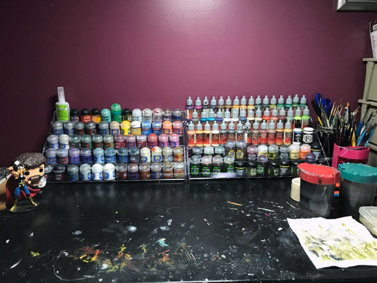 Acrylic Paint Rack